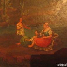 """Arte: """"TRES MUCHACHAS"""". PINTURA AL ÓLEO. SIGLO XIX. Lote 233817880"""