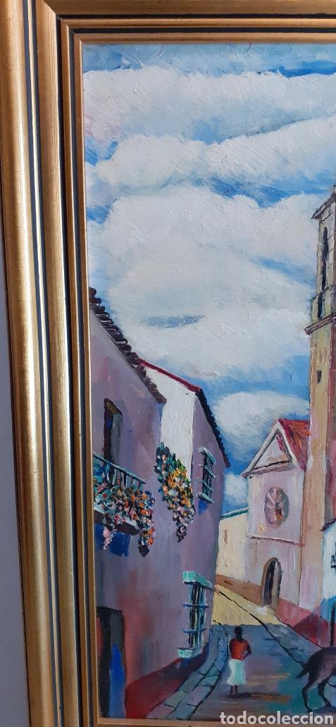 Arte: Oleo sobre tabla, 41 x 30, firmado - Foto 3 - 233833005