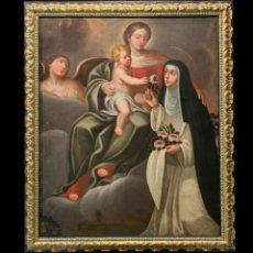 Arte: STA ROSA DE LIMA ADORANDO AL NIÑO JESUS. Lote 233884325