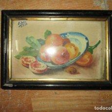 Arte: IMPORTANTE PINTURA ANTIGUA BODEGON OLEO BODEGON FIRMADO PROCEDE DE ALICANTE. Lote 134455030