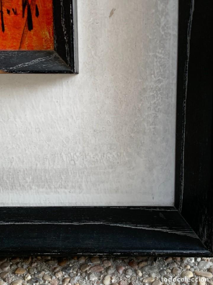 Arte: OLEO COBRE BAILARINAS ATANDOSE ZAPATILLAS ESPEJO AÑOS 50 60 FIRMA ILEGIBLE 92X40CM - Foto 5 - 234024085