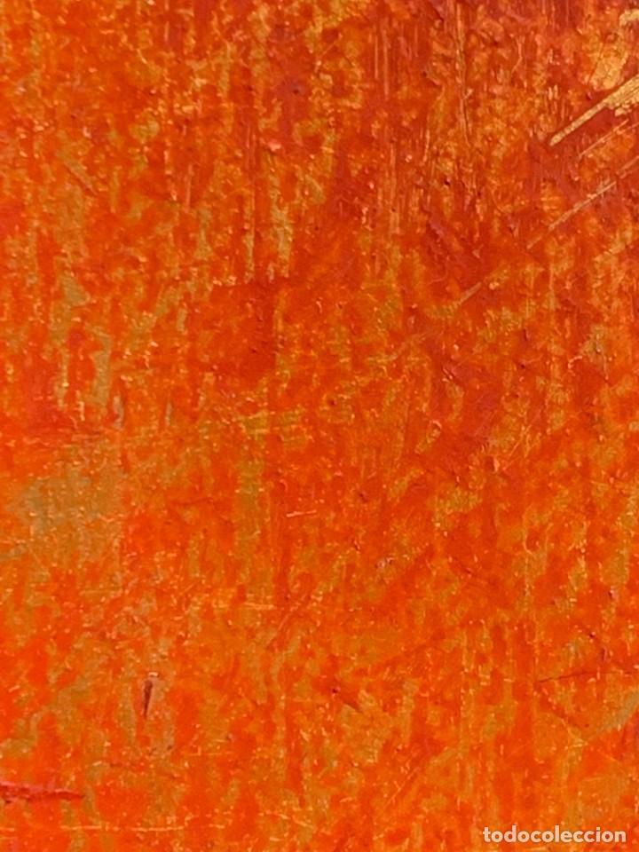 Arte: OLEO COBRE BAILARINAS ATANDOSE ZAPATILLAS ESPEJO AÑOS 50 60 FIRMA ILEGIBLE 92X40CM - Foto 10 - 234024085