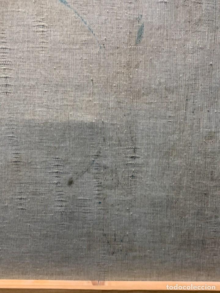 Arte: BODEGON FLORES PLATO CANDELABRO BUDA OLEO LIENZO TONOS AZULES MARGARITAS 61X60CM - Foto 6 - 234026005