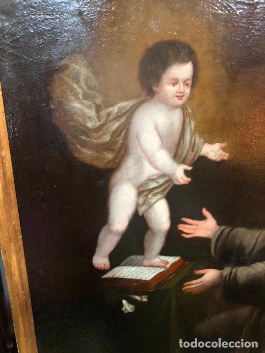 Arte: ESPECTACULAR OLEO SOBRE LIENZO SIGLO XVII RELIGIOSA IMAGEN SAN ANTONIO - MEDIDA MARCO 131X103 CM - Foto 2 - 234043050