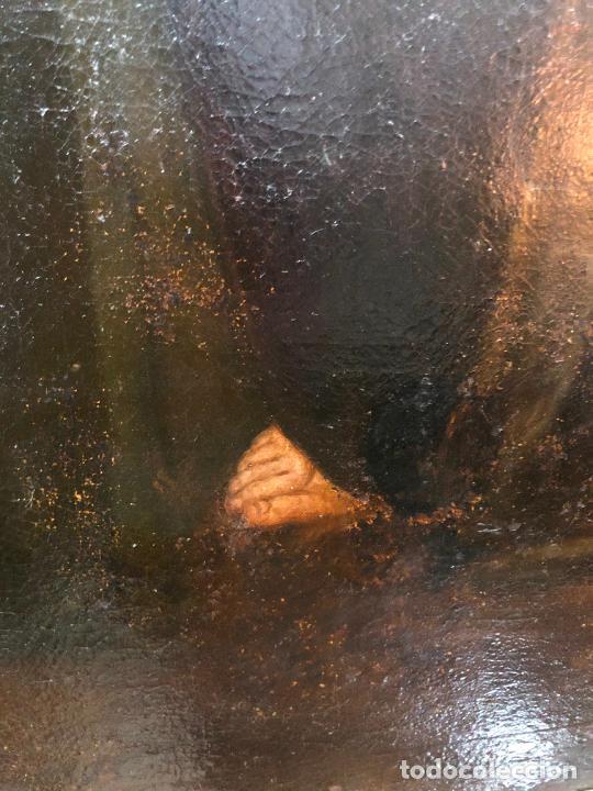 Arte: ESPECTACULAR OLEO SOBRE LIENZO SIGLO XVII RELIGIOSA IMAGEN SAN ANTONIO - MEDIDA MARCO 131X103 CM - Foto 10 - 234043050