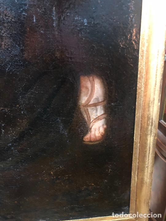 Arte: ESPECTACULAR OLEO SOBRE LIENZO SIGLO XVII RELIGIOSA IMAGEN SAN ANTONIO - MEDIDA MARCO 131X103 CM - Foto 11 - 234043050