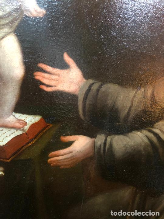 Arte: ESPECTACULAR OLEO SOBRE LIENZO SIGLO XVII RELIGIOSA IMAGEN SAN ANTONIO - MEDIDA MARCO 131X103 CM - Foto 12 - 234043050