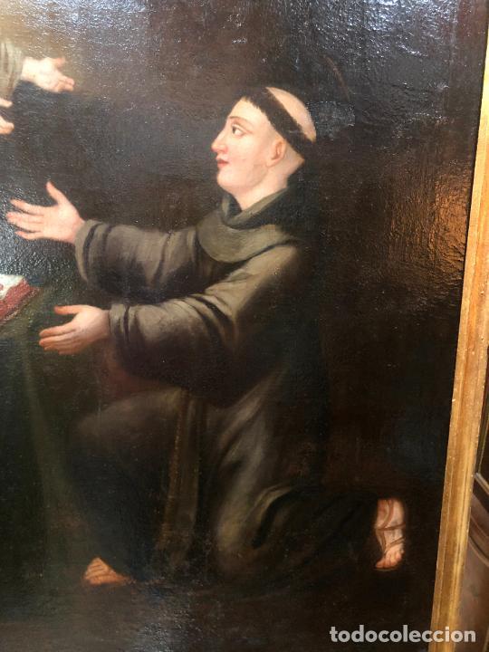 Arte: ESPECTACULAR OLEO SOBRE LIENZO SIGLO XVII RELIGIOSA IMAGEN SAN ANTONIO - MEDIDA MARCO 131X103 CM - Foto 16 - 234043050