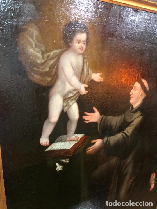 Arte: ESPECTACULAR OLEO SOBRE LIENZO SIGLO XVII RELIGIOSA IMAGEN SAN ANTONIO - MEDIDA MARCO 131X103 CM - Foto 17 - 234043050