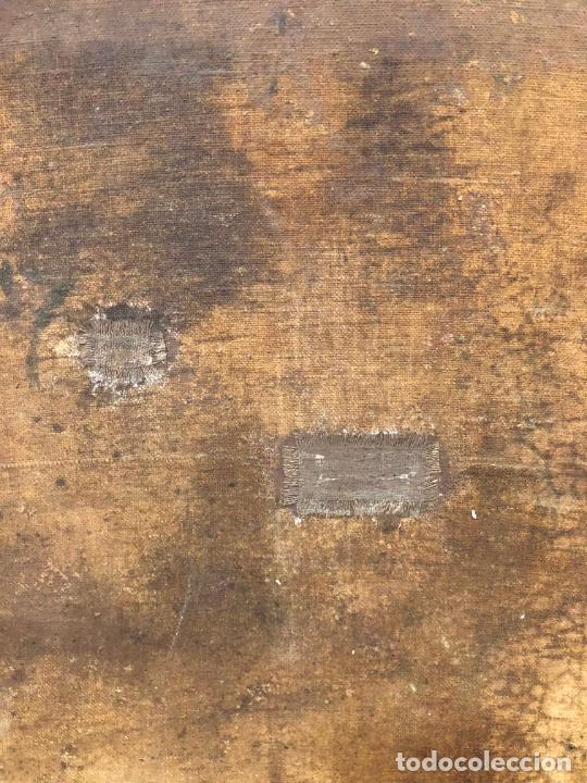 Arte: ESPECTACULAR OLEO SOBRE LIENZO SIGLO XVII RELIGIOSA IMAGEN SAN ANTONIO - MEDIDA MARCO 131X103 CM - Foto 24 - 234043050