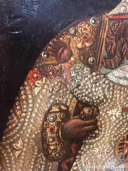 Arte: ESPECTACULAR OLEO SOBRE TABLA SIGLO XVII - VIRGEN DE TOLEDO - MEDIDA MARCO 105X79 CM - Foto 5 - 234049115