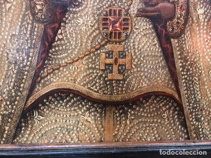 Arte: ESPECTACULAR OLEO SOBRE TABLA SIGLO XVII - VIRGEN DE TOLEDO - MEDIDA MARCO 105X79 CM - Foto 11 - 234049115