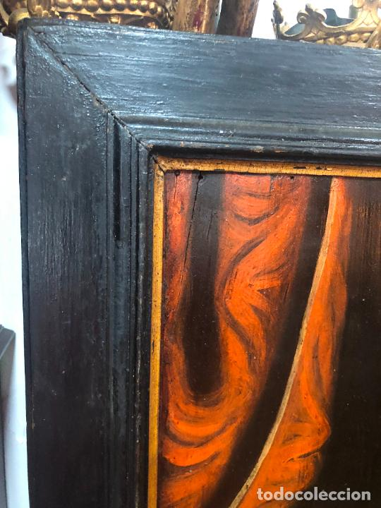 Arte: ESPECTACULAR OLEO SOBRE TABLA SIGLO XVII - VIRGEN DE TOLEDO - MEDIDA MARCO 105X79 CM - Foto 13 - 234049115