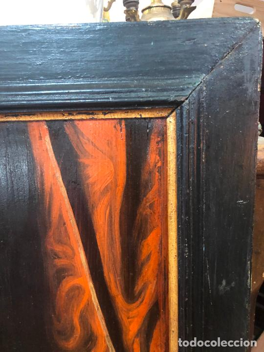 Arte: ESPECTACULAR OLEO SOBRE TABLA SIGLO XVII - VIRGEN DE TOLEDO - MEDIDA MARCO 105X79 CM - Foto 16 - 234049115