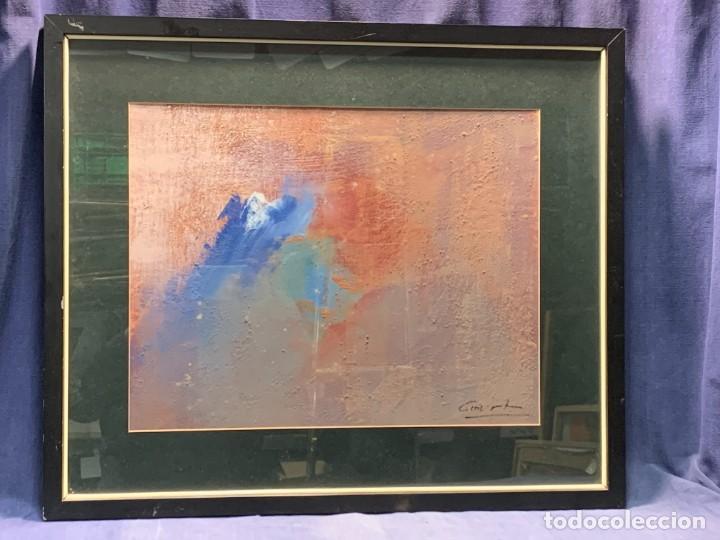 COMPOSICION ABSTRACTA TECNICA MIXTA COURT AÑOS 80 53X63CM (Arte - Pintura - Pintura al Óleo Moderna sin fecha definida)