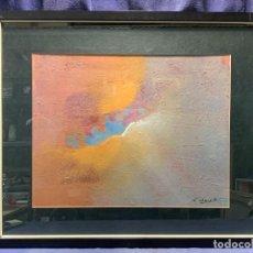 Arte: COMPOSICION ABSTRACTA TECNICA MIXTA COURT AÑOS 80 53X63CM. Lote 234061800