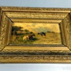 Arte: VICENTE MOTA Y MORALES (QUINTANAR DE LA ORDEN, TOLEDO 1869) PINTOR DE LOS PASTORES - CABRAS - FIRMAD. Lote 234277430