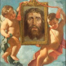 Arte: ÓLEO SOBRE LIENZO LA SANTA FAZ ESCUELA ITALIANA SIGLO XVII. Lote 234383340