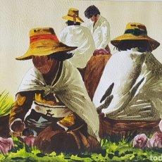 Arte: ESCENA COSTUMBRISTA ARGENTINA ILEGIBLE. Lote 234694280
