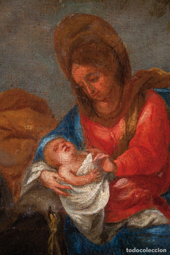Arte: Óleo lienzo La Huida a Egipto Escuela Andaluza siglo XVII - Foto 3 - 234771055