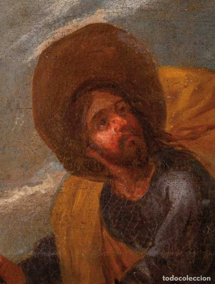 Arte: Óleo lienzo La Huida a Egipto Escuela Andaluza siglo XVII - Foto 4 - 234771055