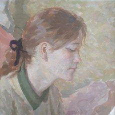 Arte: ALEXANDRE SICHES PIERA (BARCELONA, 1927-2009) - CHICA LEYENDO.OLEO/TABLA.FIRMADO.TITULADO. Lote 234834445