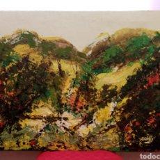 Arte: ANTIGUA PINTURA HORIZONTAL. DESDE LAS MONTAÑAS (2) ÓLEO SOBRE LIENZO RICA EN DIVERSIDAD DE COLORES... Lote 234854460