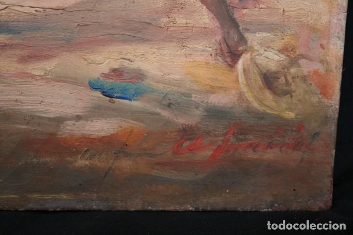 Arte: OLEO SOBRE TELA, TAURINO - CORRIDA DE TOROS, ILEGIBLE. - Foto 6 - 234911150