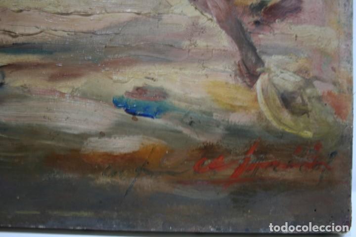 Arte: OLEO SOBRE TELA, TAURINO - CORRIDA DE TOROS, ILEGIBLE. - Foto 7 - 234911150