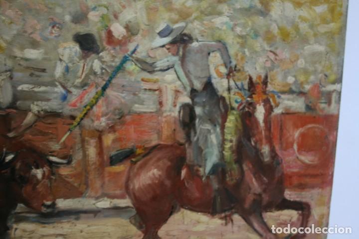 Arte: OLEO SOBRE TELA, TAURINO - CORRIDA DE TOROS, ILEGIBLE. - Foto 8 - 234911150