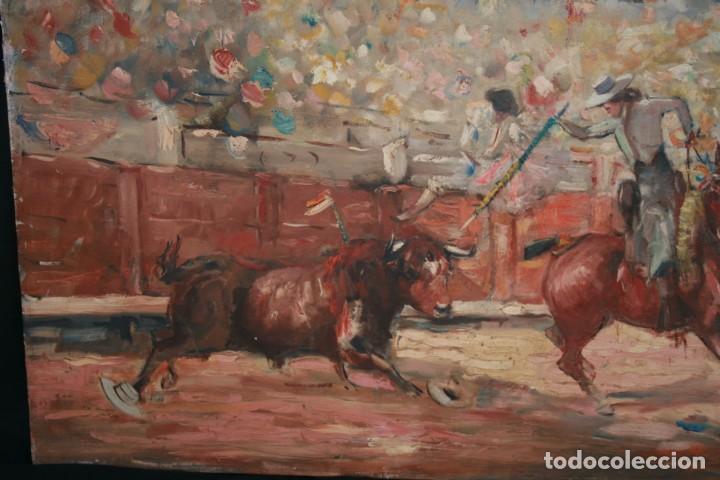 Arte: OLEO SOBRE TELA, TAURINO - CORRIDA DE TOROS, ILEGIBLE. - Foto 9 - 234911150