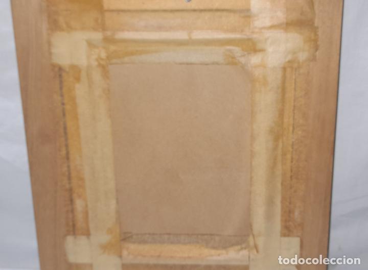 Arte: cuadro de oleo sobre tabla - Firmado Bilinquer I - bodegon . marco dorado .33x28cm - Foto 5 - 235046900