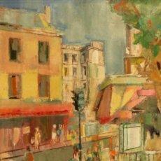 Arte: INTERESANTE OBRA DE ALBERT COLL (1918), UNA CALLE DE PARÍS, BIEN ENMARCADO, 46 X 38 FIRMADO. Lote 235082935