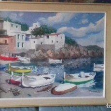 Arte: PAISAJE DE UNA CALA, PINTOR DOMENECH. Lote 235127330