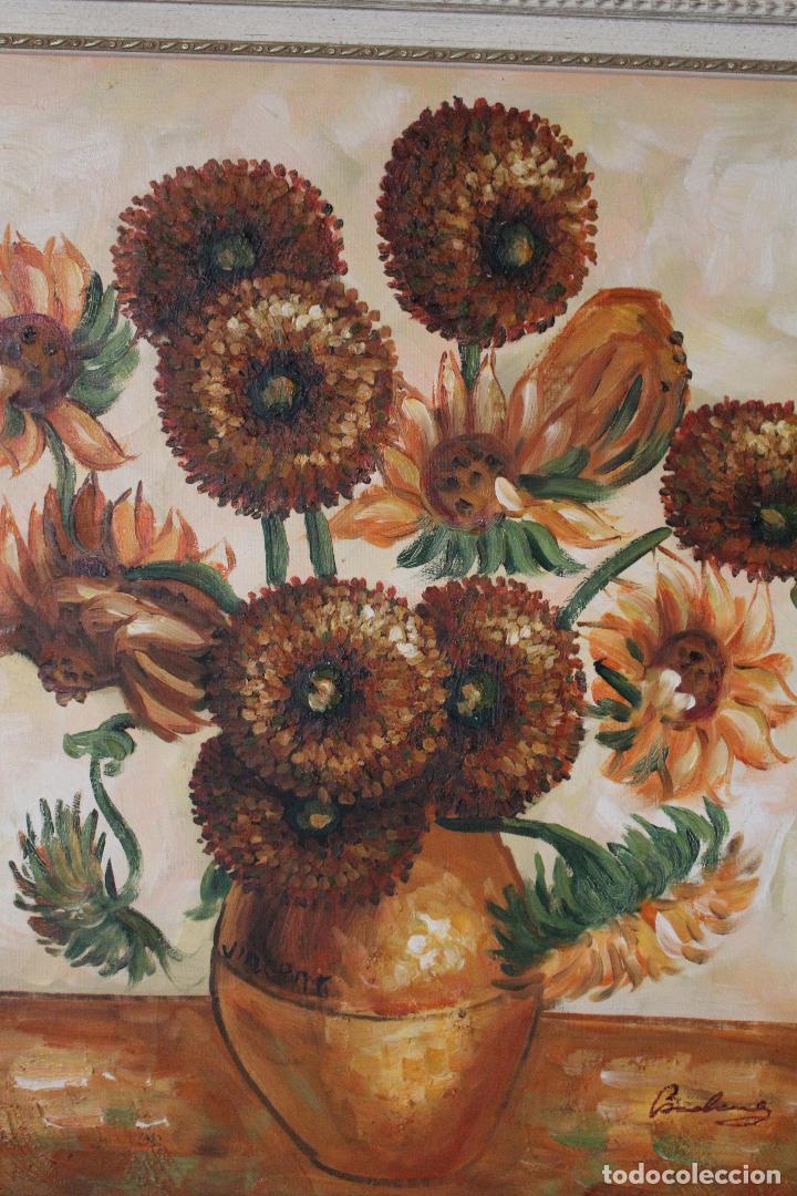 Arte: girasoles, oleo original firmado - Foto 2 - 268860364