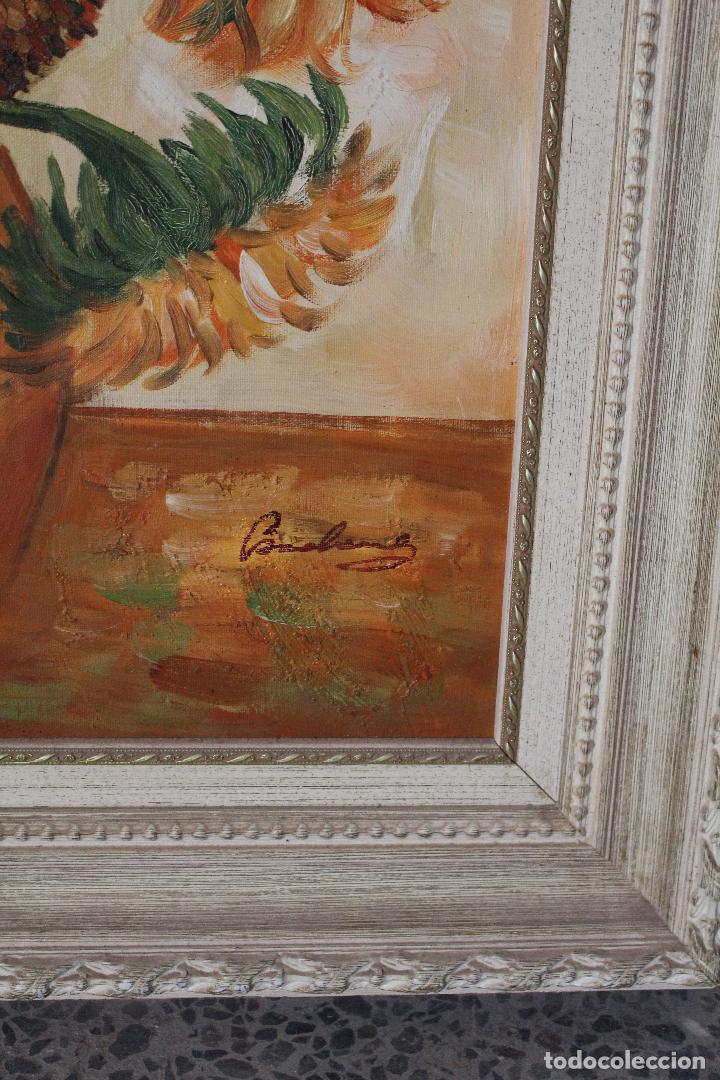 Arte: girasoles, oleo original firmado - Foto 4 - 268860364