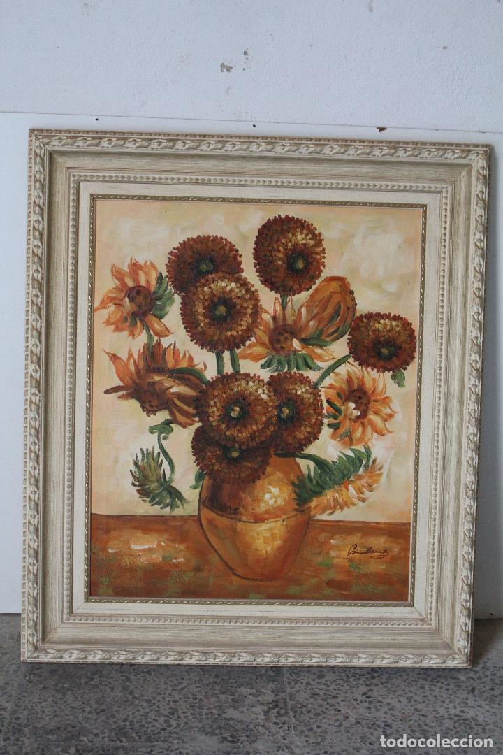 Arte: girasoles, oleo original firmado - Foto 6 - 268860364