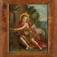 Arte: ÓLEO COBRE SAN JUANITO ESCUELA FLAMENCA FINALES DEL SIGLO XVI. Lote 235319645
