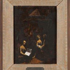 Arte: ÓLEO TABLA KIOSKO DE PERIÓDICOS BONIFACIO LÁZARO LOZANO PORTUGAL 1906 MADRID 1999. Lote 235333130