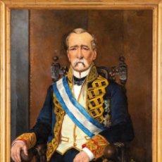 Arte: ÓLEO LIENZO RETRATO DE CABALLERO DE LA ORDEN DE CARLOS III FIRMADO J MAS 1895. Lote 235334475