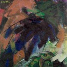 Arte: ÓLEO S/LIENZO DE ANTONIO VILLA-TORO. PINTOR DE LA MOVIDA MADRILEÑA DE LOS AÑOS 80. 102.5X84 CMS. Lote 235339435