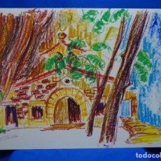 Arte: DIBUJO A LAS CERAS DE CARLOS SOTELO FERNANDEZ (1936-2011).DOCTOR EN INGENIERÍA Y PINTOR. COLORIDO.. Lote 235377160