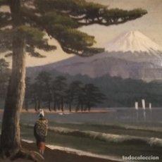 Arte: FUJIYAMA, PINTURA JAPONESA, FIRMADA. Lote 235389075
