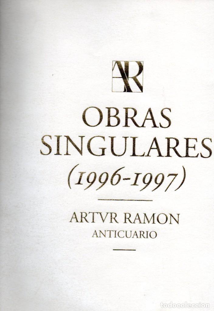 OBRAS SINGULARES 1996-1997- ARTUR RAMON ART (Arte - Pintura - Pintura al Óleo Antigua siglo XV)