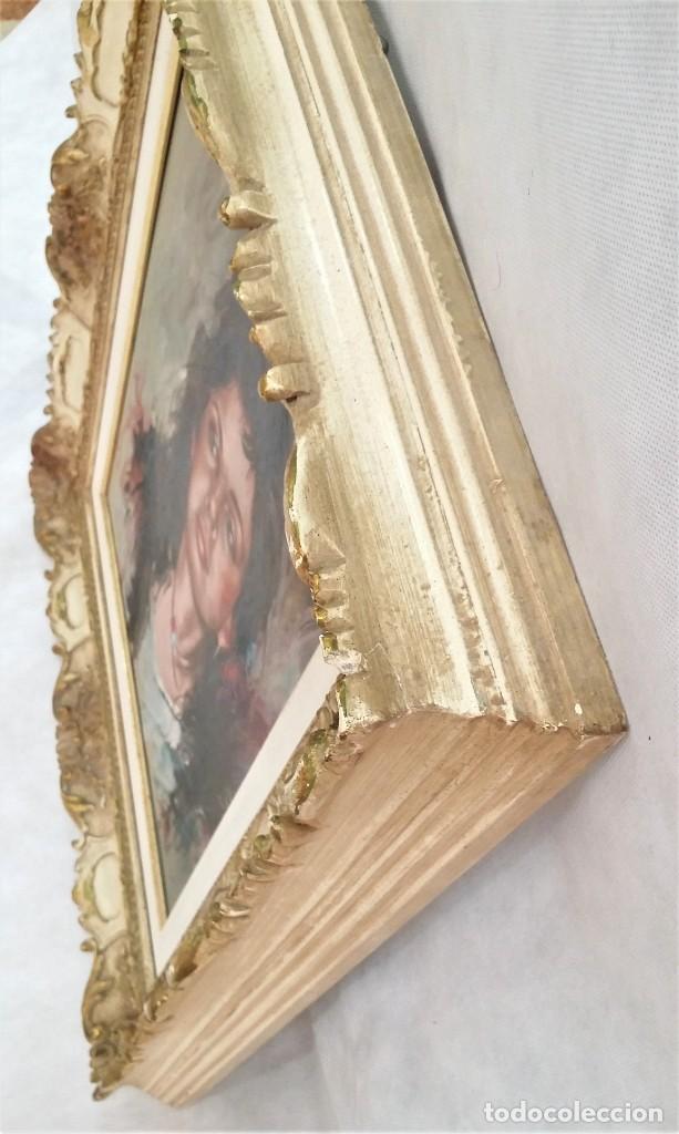 Arte: Precioso retrato de joven morena- Óleo sobre lienzo, lujosamente enmarcado - Envío gratis Península - Foto 4 - 235580620