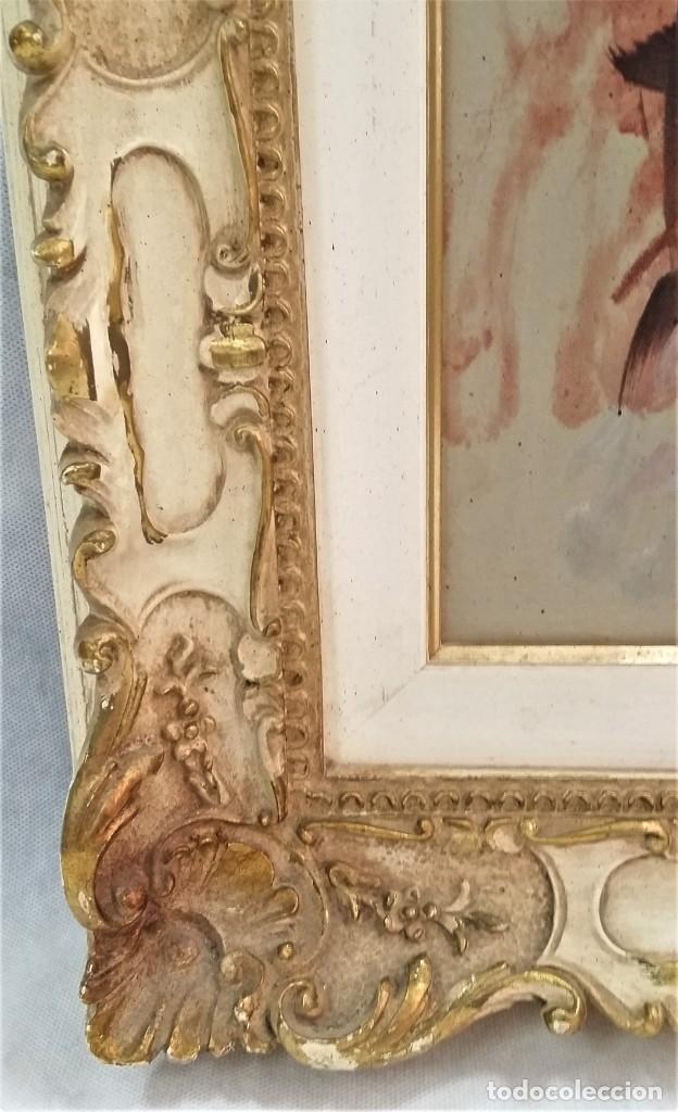 Arte: Precioso retrato de joven morena- Óleo sobre lienzo, lujosamente enmarcado - Envío gratis Península - Foto 7 - 235580620