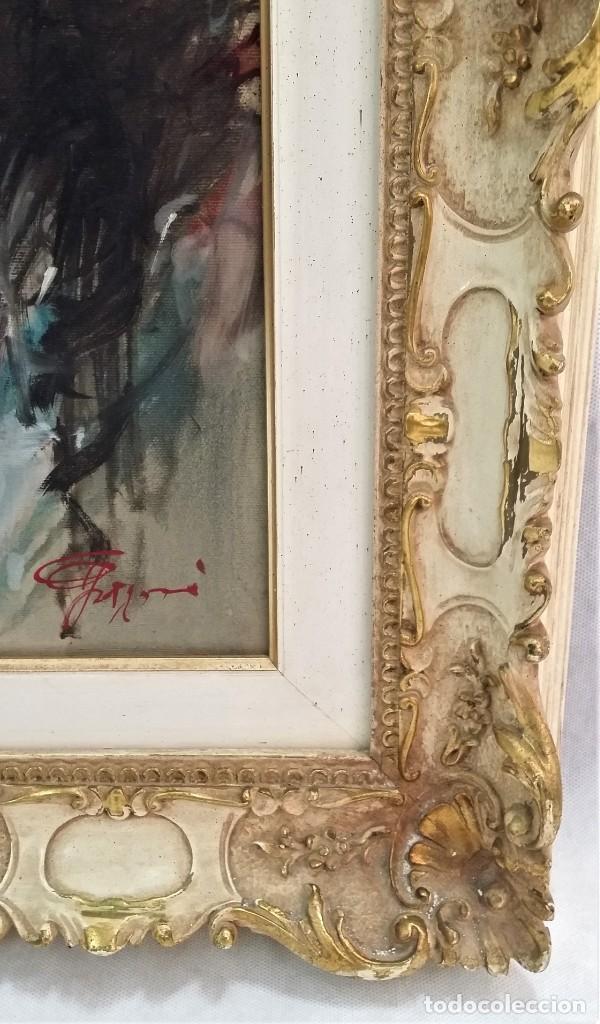 Arte: Precioso retrato de joven morena- Óleo sobre lienzo, lujosamente enmarcado - Envío gratis Península - Foto 8 - 235580620