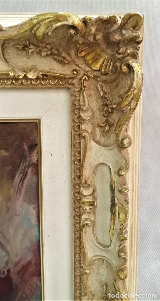 Arte: Precioso retrato de joven morena- Óleo sobre lienzo, lujosamente enmarcado - Envío gratis Península - Foto 9 - 235580620