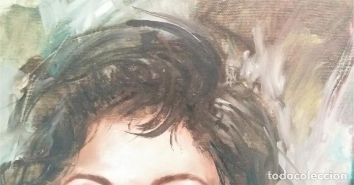 Arte: Precioso retrato de joven morena- Óleo sobre lienzo, lujosamente enmarcado - Envío gratis Península - Foto 17 - 235580620