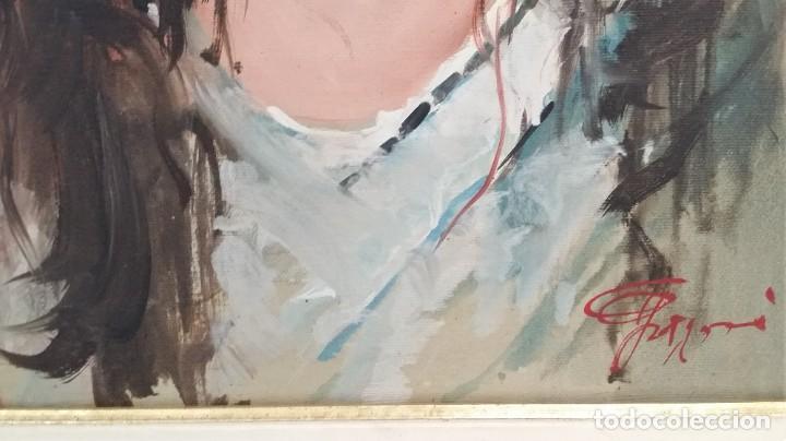 Arte: Precioso retrato de joven morena- Óleo sobre lienzo, lujosamente enmarcado - Envío gratis Península - Foto 22 - 235580620